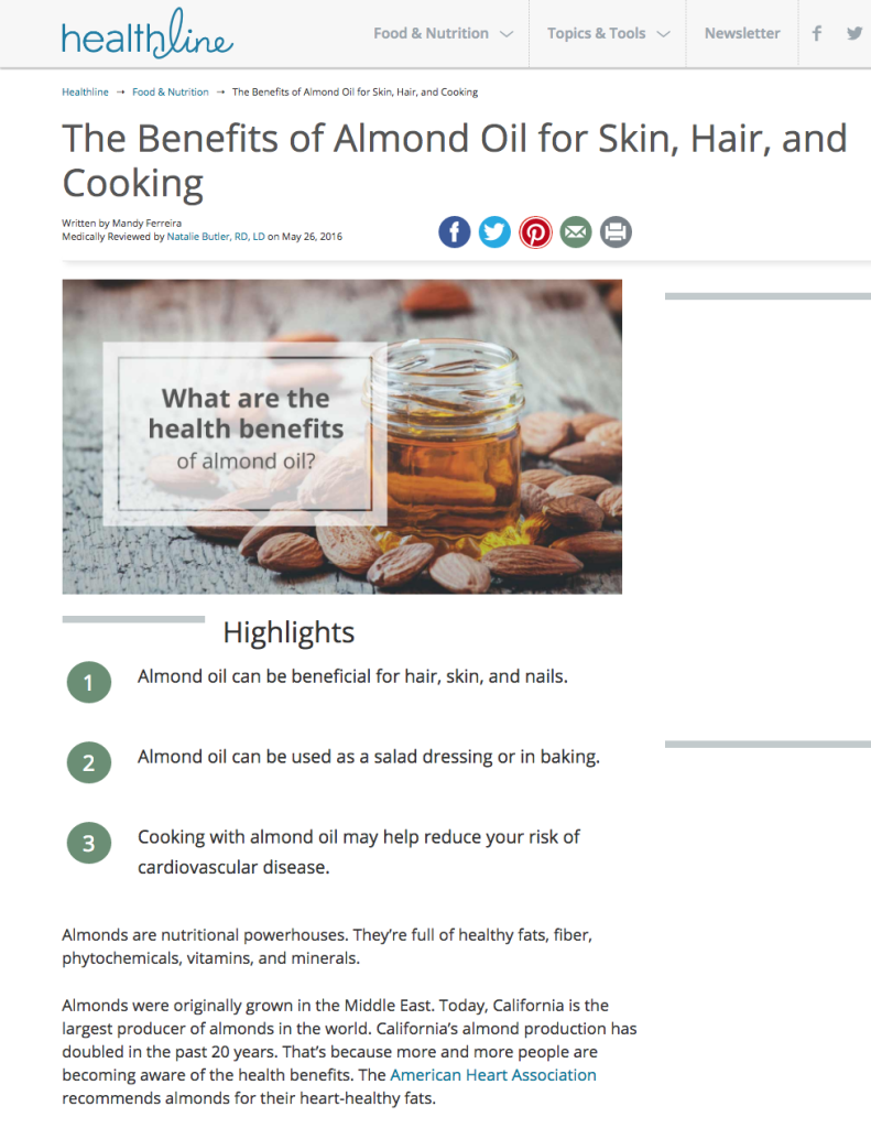 The Benefits of Almond Oil for Skin, Hair, and Cooking