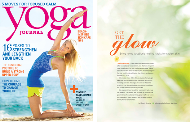 Get the Glow Yoga Journal 2013 Mandy Ferreira Portfolio yoga-journal-get-the-glow-by-mandy-ferreira