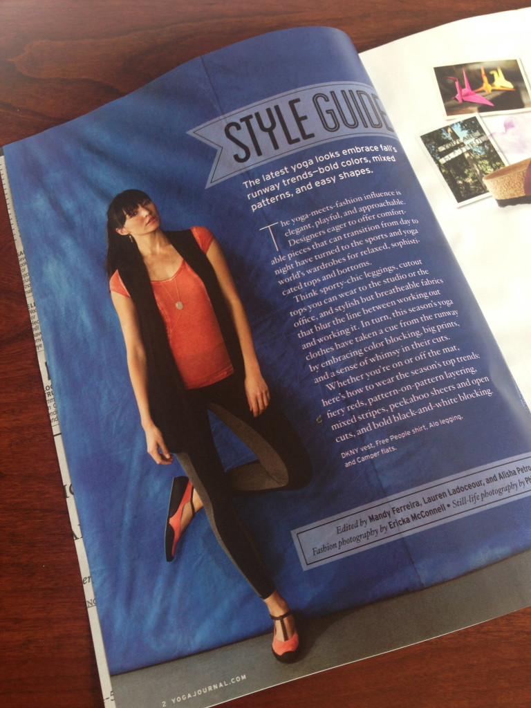 Yoga Journal September Fashion Guide 2013 issue 258