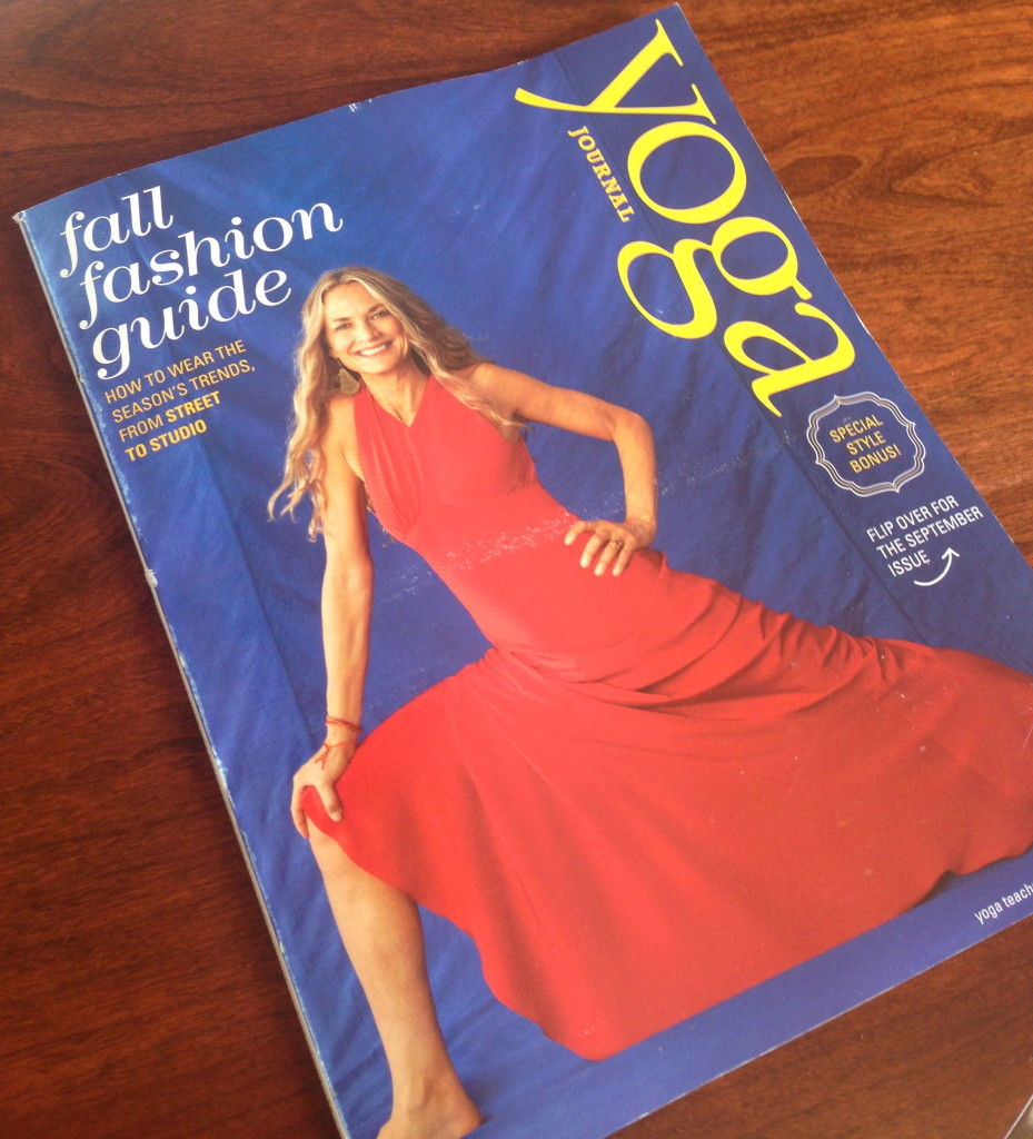 Yoga Journal September Fashion Guide 2013 issue 258 cover