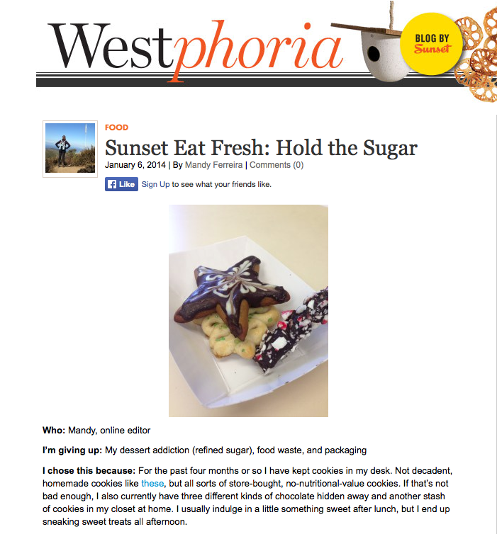 Sunset magazine eat fresh challenge 2014