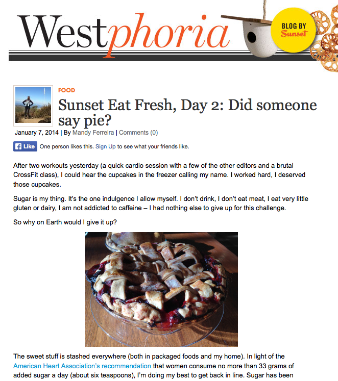 Sunset Eat Fresh Westphoria blog day 2