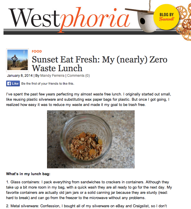 sunset magazine westphoria, eat fresh