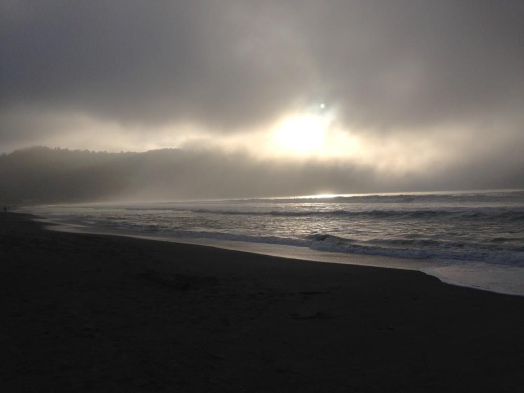 linda mar beach pacifica sunset