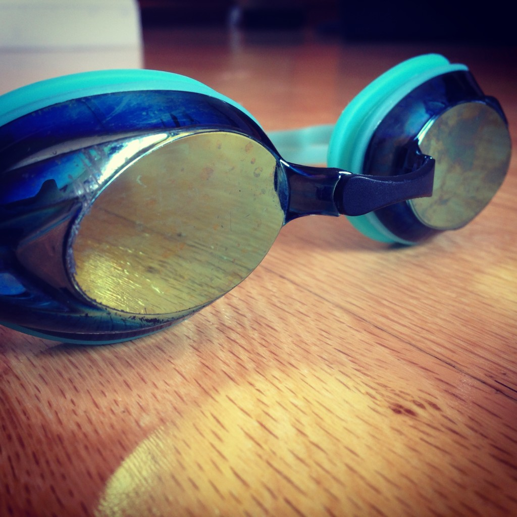 swimming speedo women's vanquisher racing goggles treading lightly