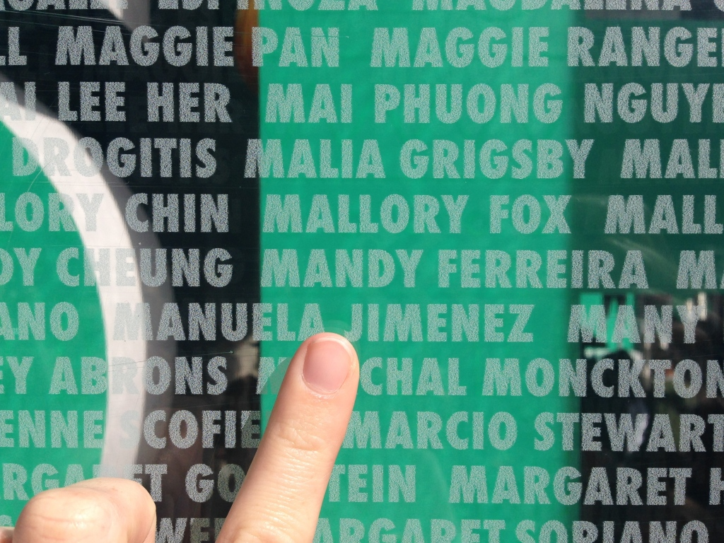 Nike Women's 2014 San Francisco Half Marathon Name Wall