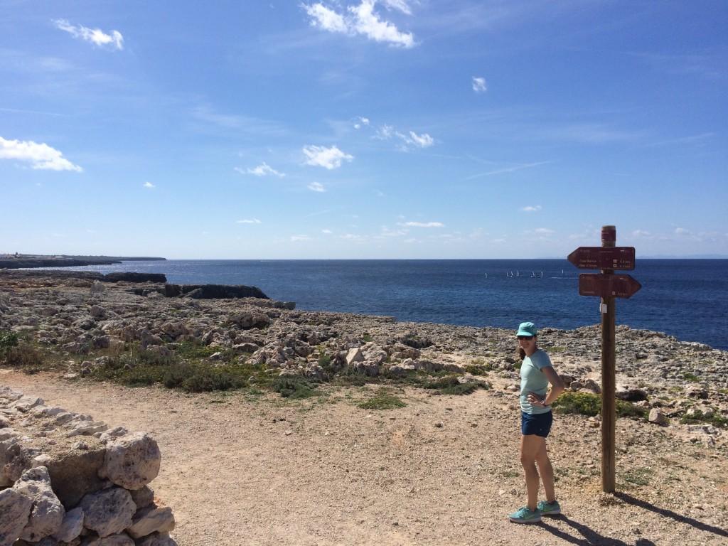 Camí-de-cavalls-Menorca-minorca-cami-de-cavalls-south-of-Ciutadella-running