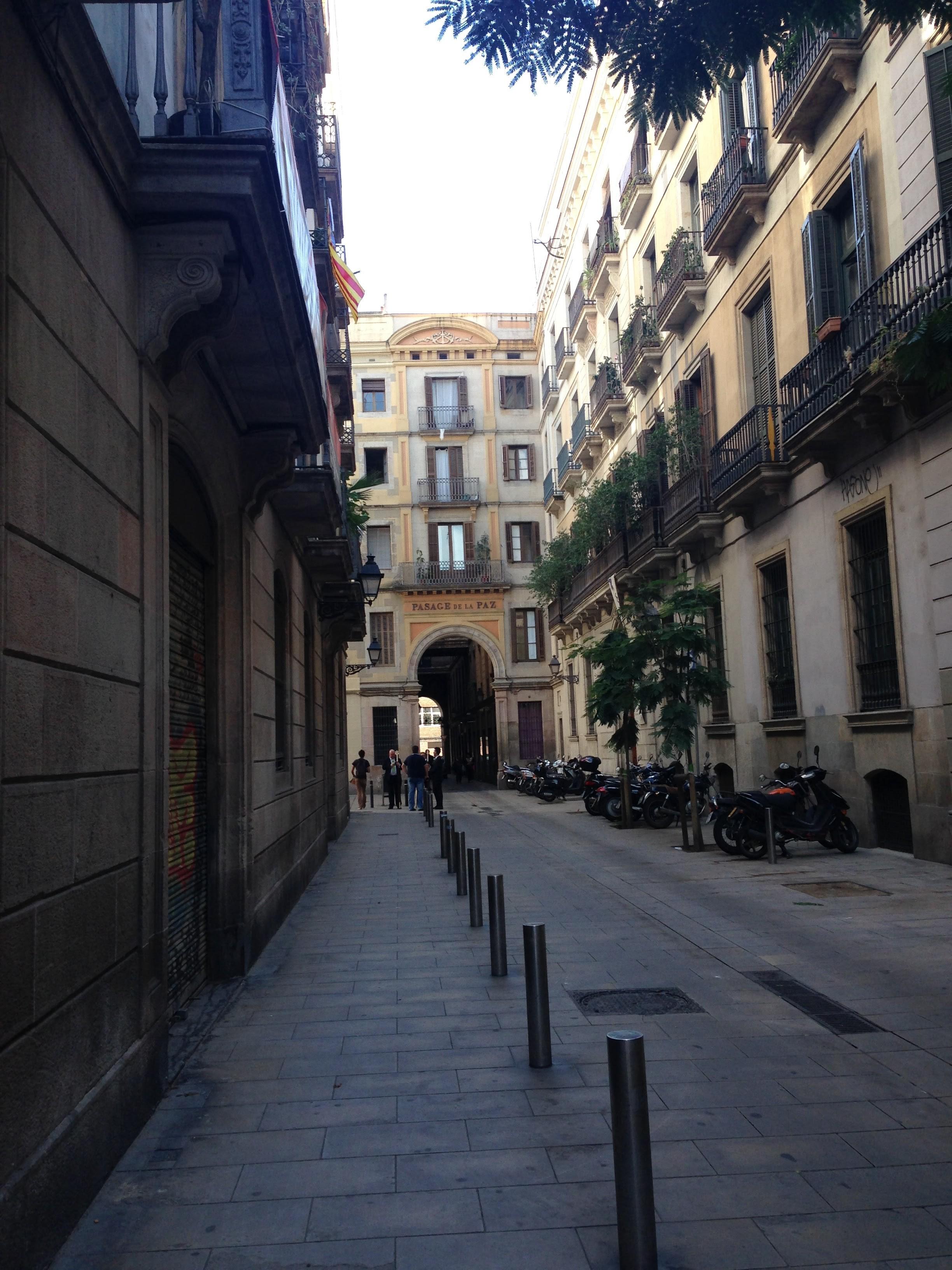 el-gotic-neighborhood-barcelona-spain-street-passage-de-la-paz