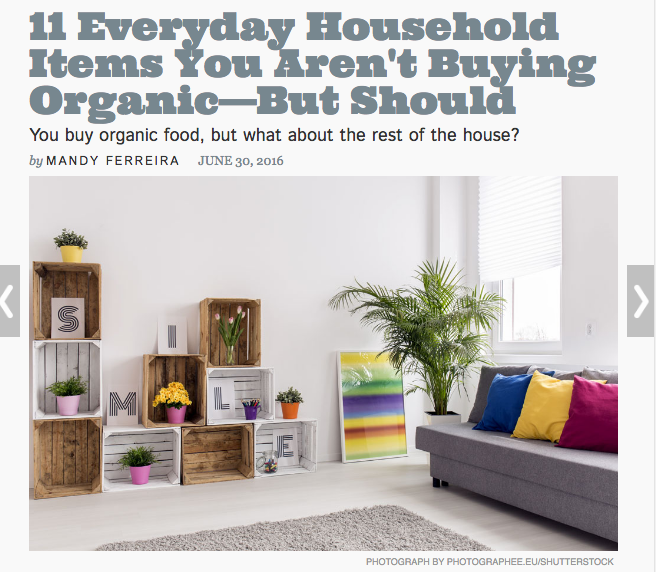 Hidden Toxins Around the House-toxins-around-the-house-11 Everyday Household Items You Aren't Buying Organic—But Should
