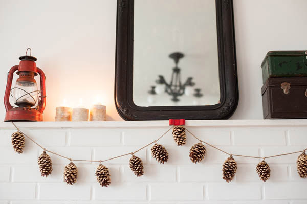 Zero Waste Christmas Decorations – Pine Cone Garland The Sweetest Ocassion