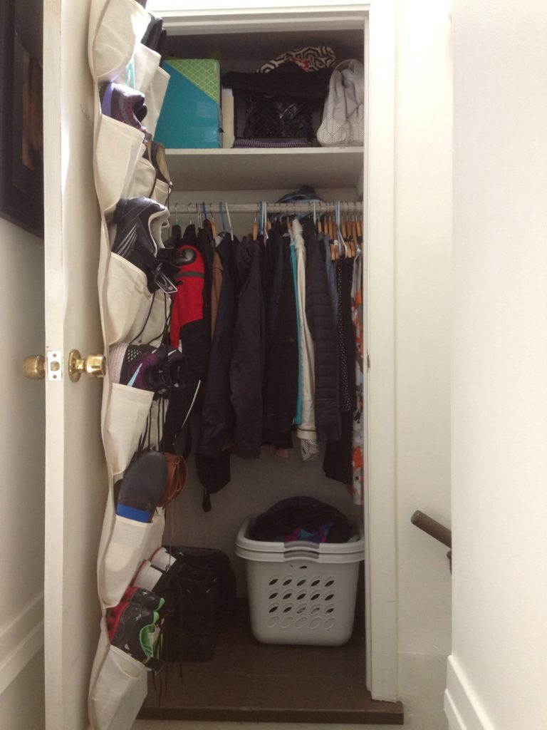 small space clothing storage closet organization