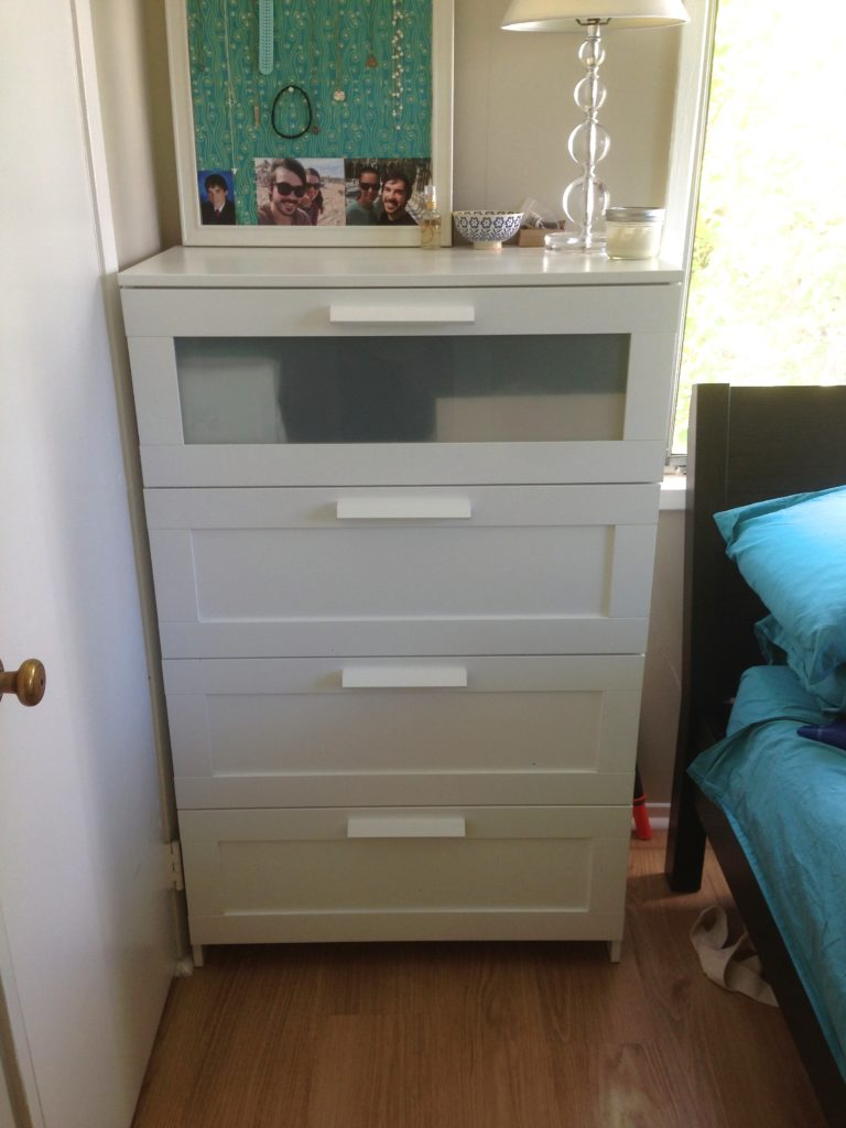 small space clothing storage dresser organization