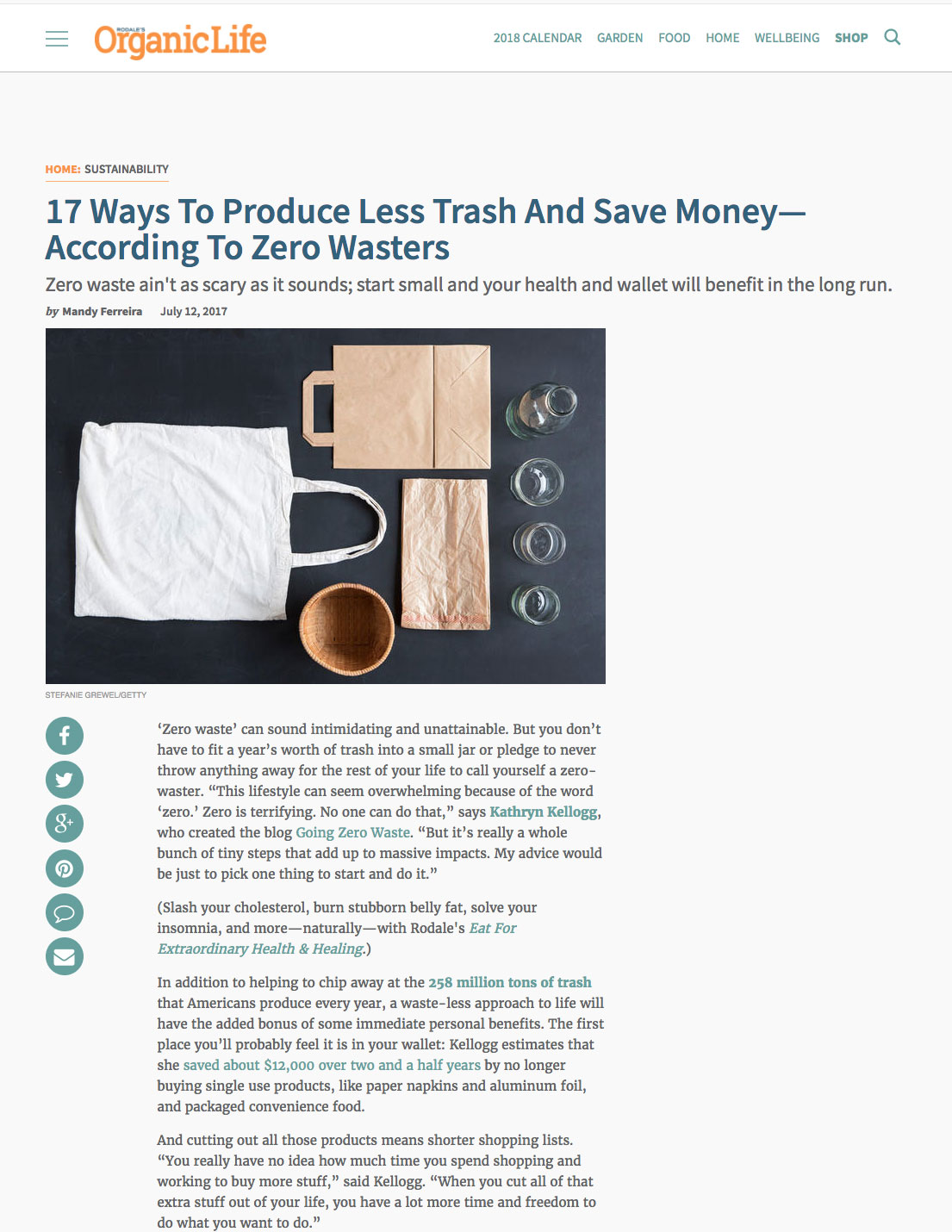 17 Ways To Produce Less Trash And Save Money—According To Zero Wasters by Mandy Ferreira Rodale's Organic Life