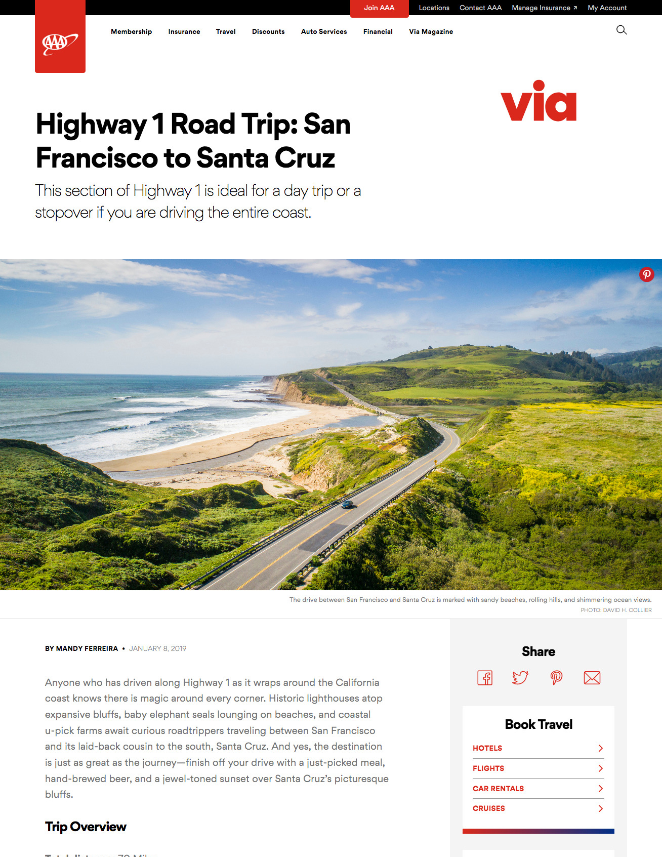 Highway 1 Road Trip: San Francisco to Santa Cruz, Mandy Ferreira for Via