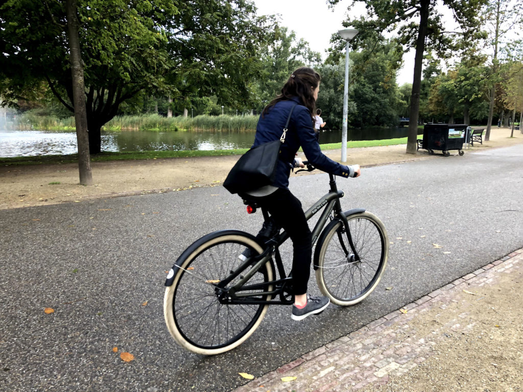 Cycling through Amsterdam's Vondelpark